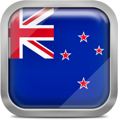 New zealand squared flag button