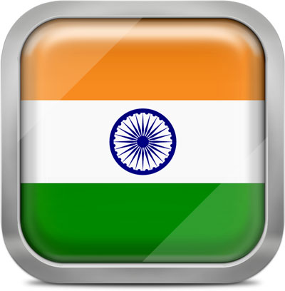 India squared flag button