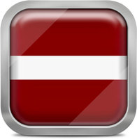 Latvia squared flag button