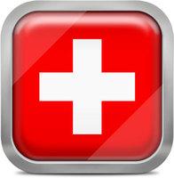 Switzerland squared flag button
