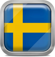 Sweden squared flag button