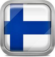 Finland squared flag button