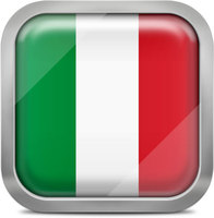 Italy squared flag button