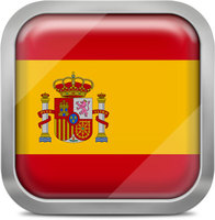 Spain squared flag button