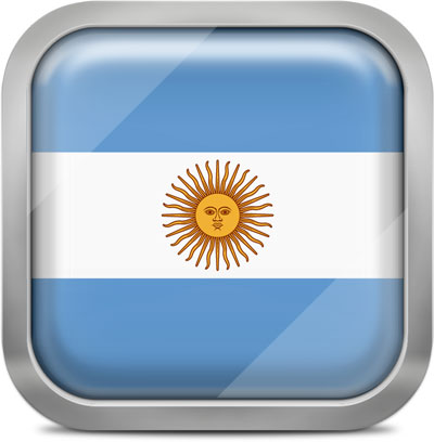 Argentina squared flag button