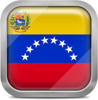 Venezuela squared flag button