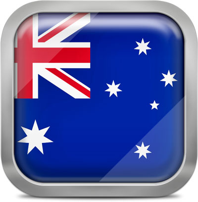 Australia squared flag button