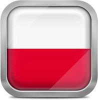 Poland squared flag button