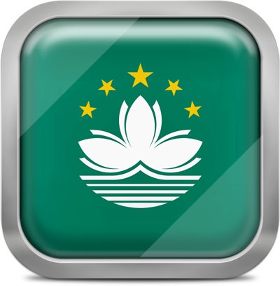 Macau squared flag button