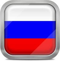 Russia squared flag button