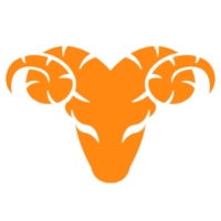 Faded orange ram