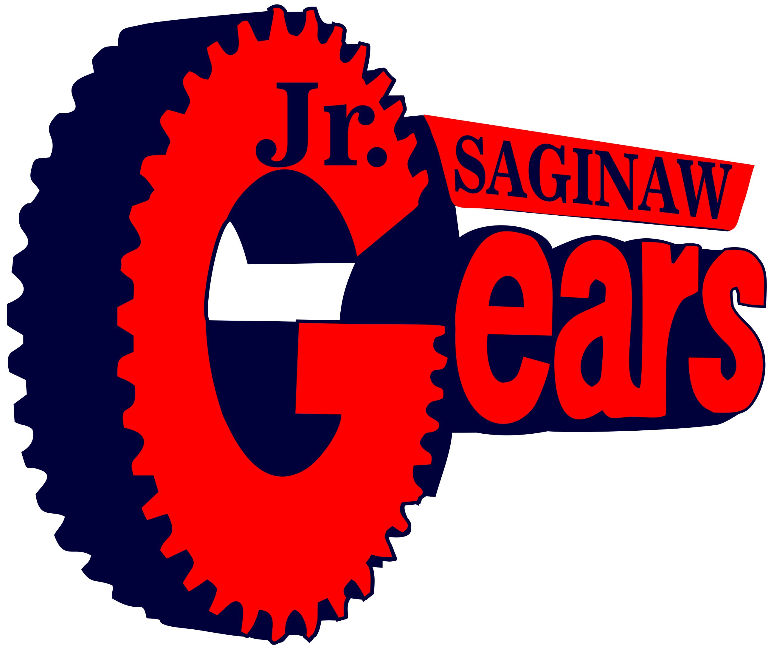Jr gears logo white background