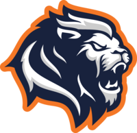 Lion head w orange outline
