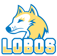 Lobos mascot text large