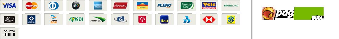 Logotipos de meios de pagamento do PagSeguro