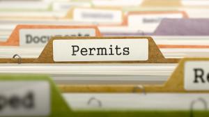 Permits Concept on Folder Register.