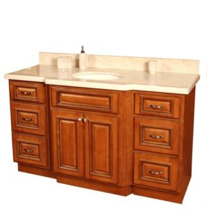 Sink countertops in the bathroom what you need to know for Bathroom cabinets rta