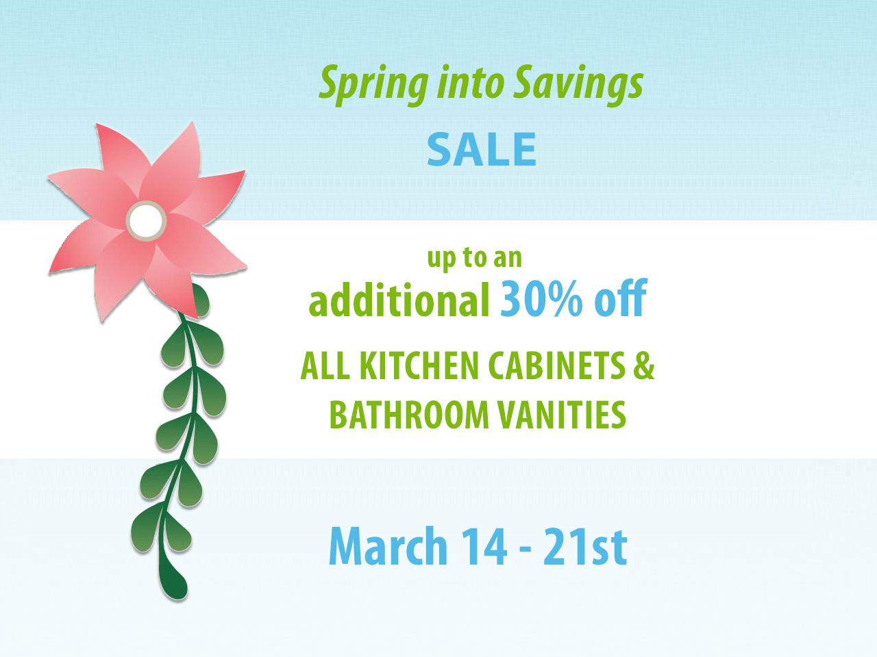 spring cabinet sale