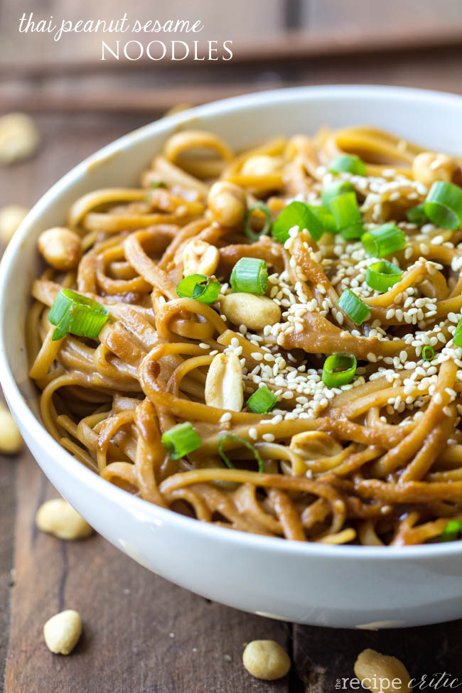 Asian noodles peanut opinion