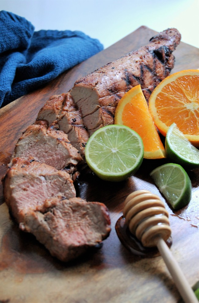 Honey Citrus Grilled Pork Tenderloin