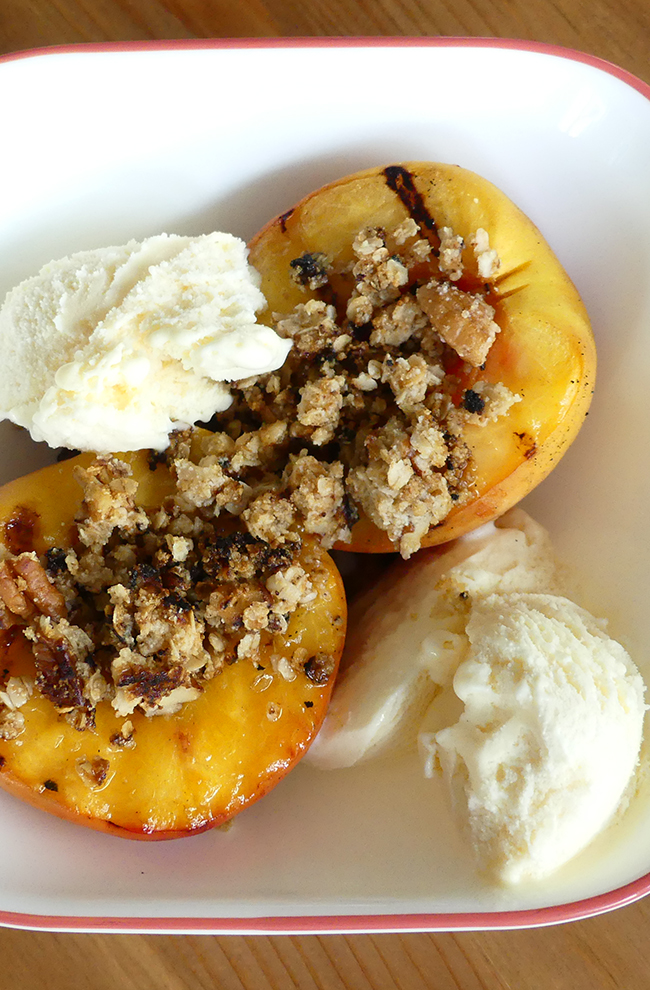 Deconstructed Grilled Peach Crumble