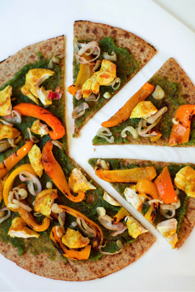 Grilled Veggie Pesto Pizza