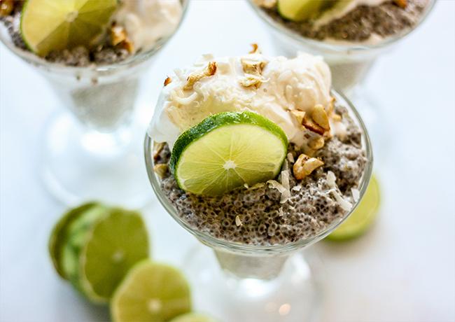 Key Lime Chia Pudding Trifle