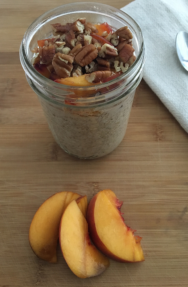 Overnight Peach Pie Oats