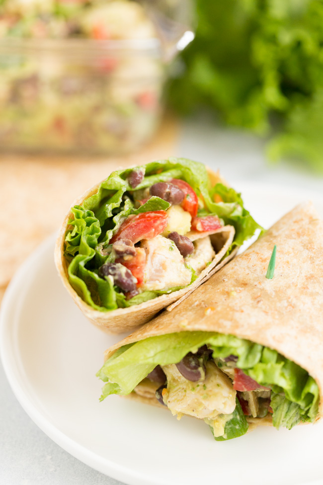 Healthy Chicken Salad Wraps