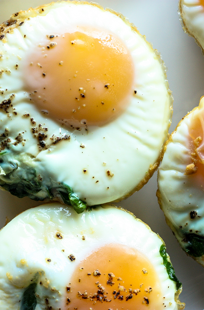 Sweet Potato and Spinach Egg Cups