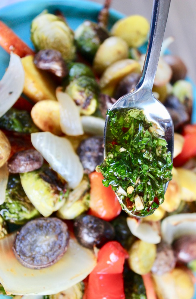 Roasted Vegetables with Argentinian Chimichurri Sauce