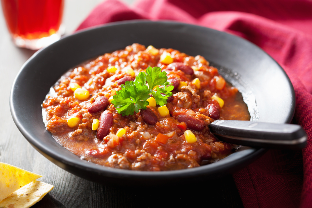 chili con carne with sweet corn. Black Bedroom Furniture Sets. Home Design Ideas