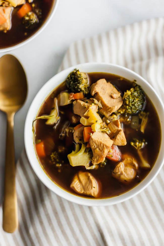 Golden Chicken and Veggie Soup