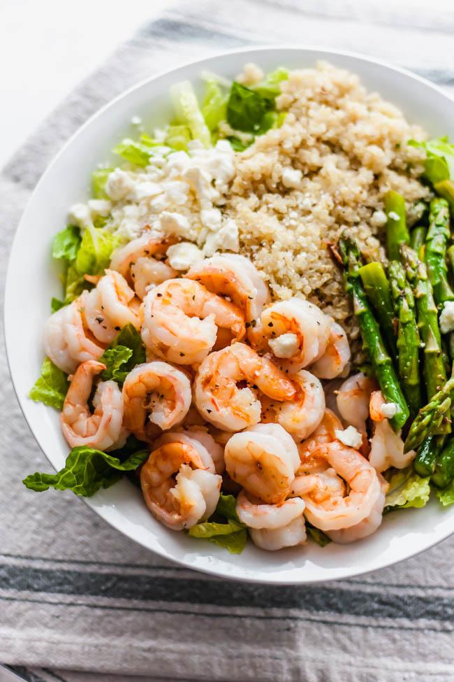 Lemon Quinoa Shrimp Salad