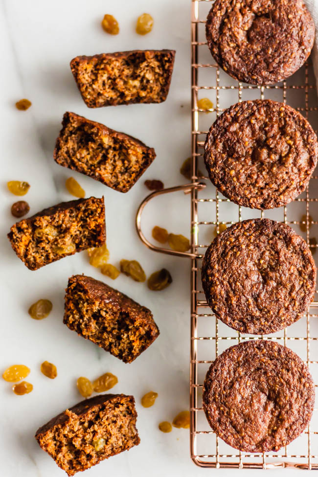 Paleo Carrot Cake and Golden Raisin Muffins
