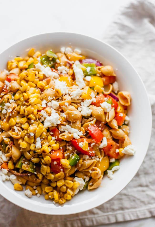 Mexican Street Corn & Veggie Pasta Salad
