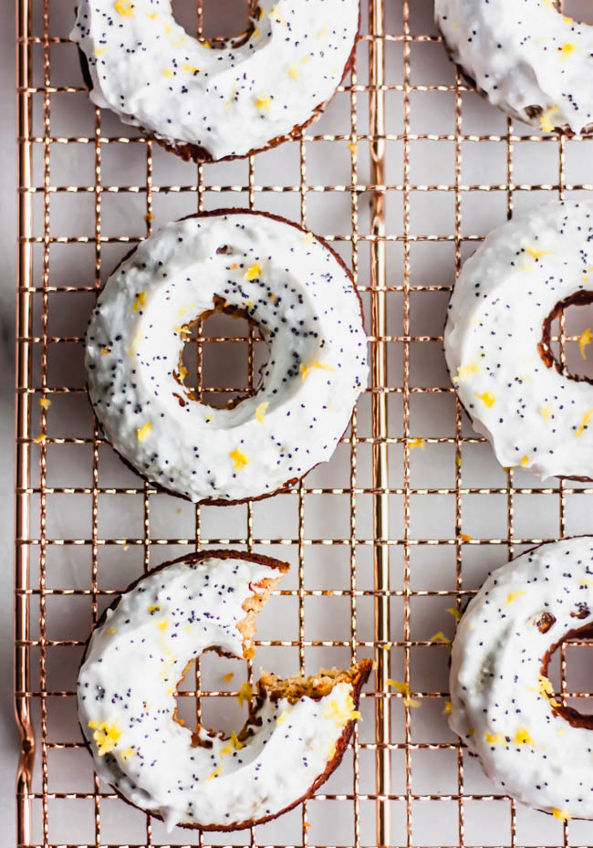 Lemon Poppyseed Paleo Donuts