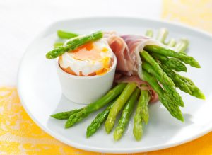 Asparagus, Soft Boiled Egg, And Ham