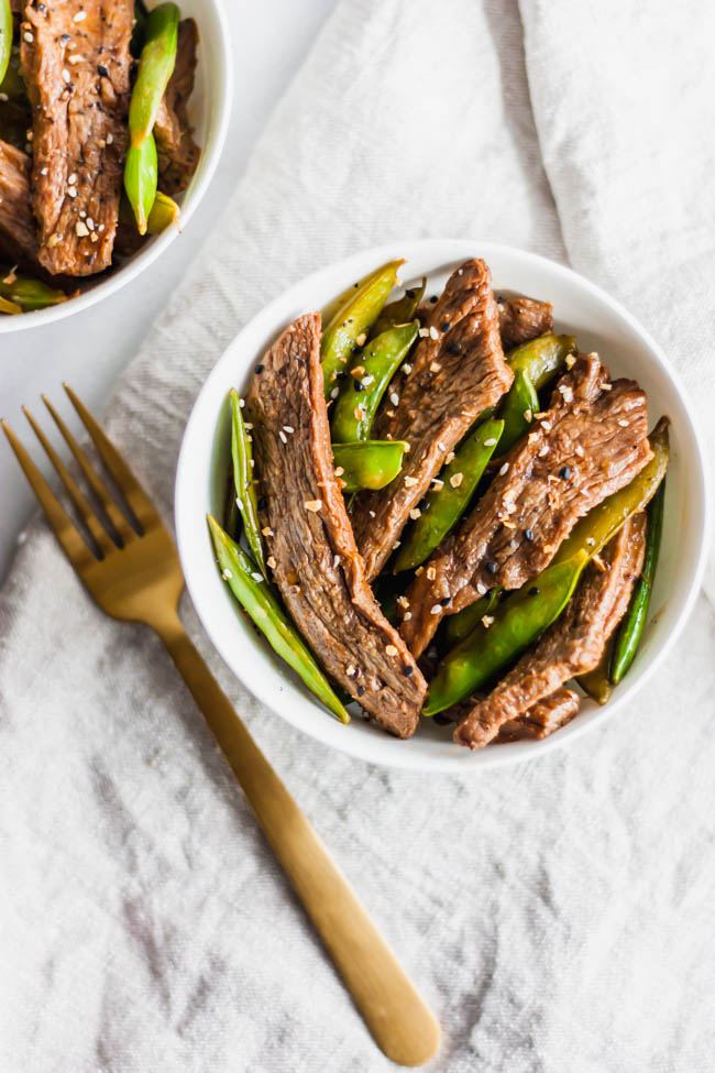Spicy Sugar Snap Peas and Beef