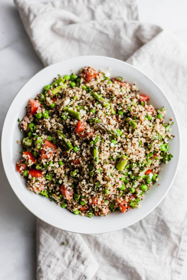 Asparagus and Pea Tabbouleh Salad