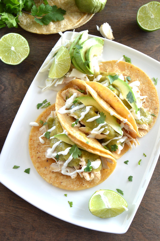 Is your weekly taco night getting a little boring? Chicken Verde Tacos will help take taco night to a whole new level!