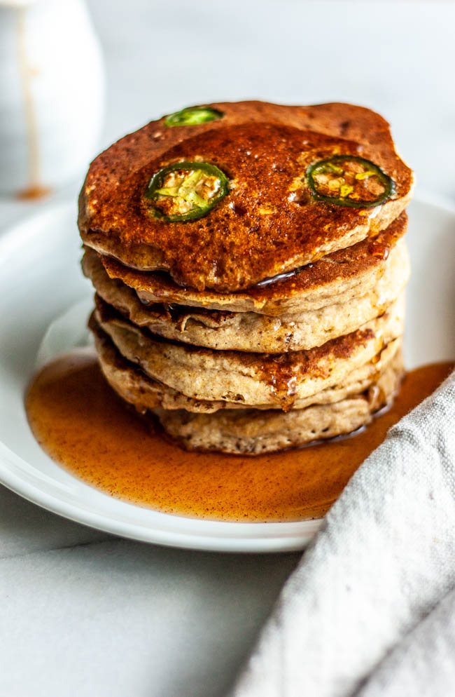 Deliciously Fluffy and Spicy Cornmeal Pancakes are the unexpected breakfast or brunch item you didn't know you needed on your table.
