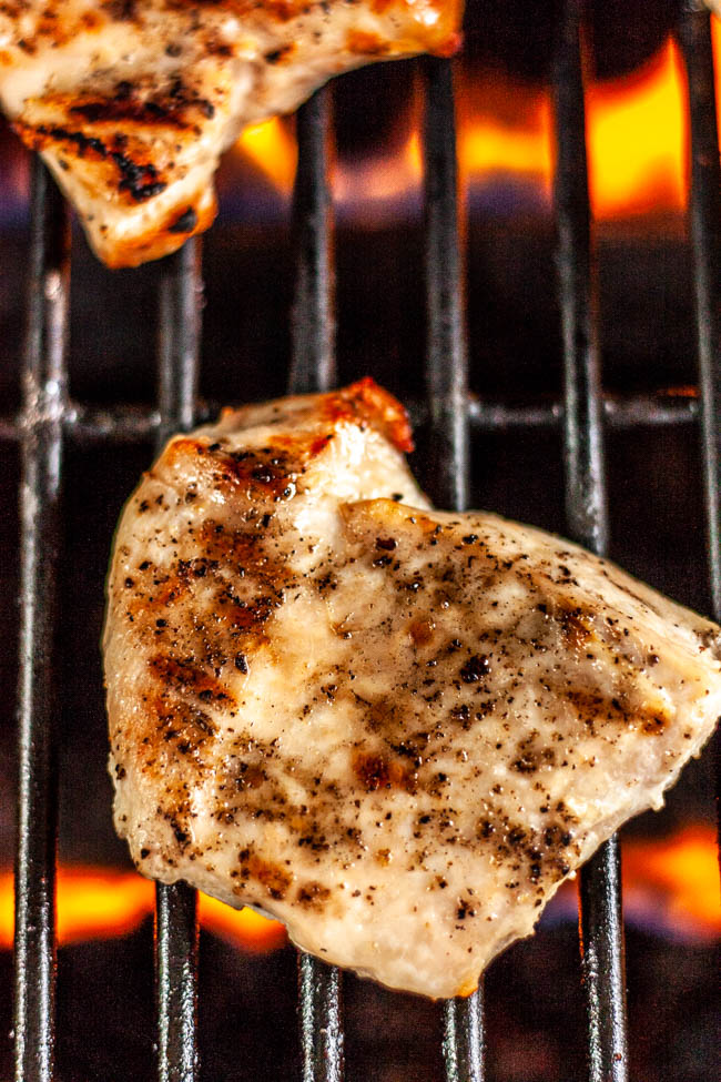 The Best Way to Grill Juicy Chicken is really very simple. You pound the chicken out into an even layer, bake it first and finish on the grill to give it grill marks.