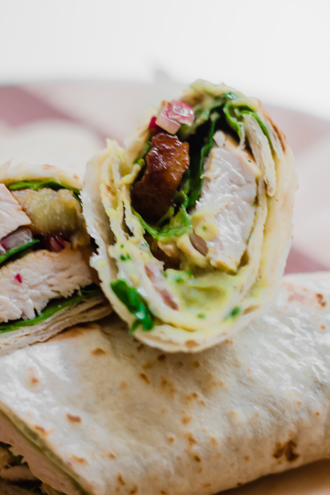 The tangy red onion and sweet roasted pineapple create a perfect balance alongside the cool avocado spread that will make this chicken wrap go from ordinary to extraordinary!