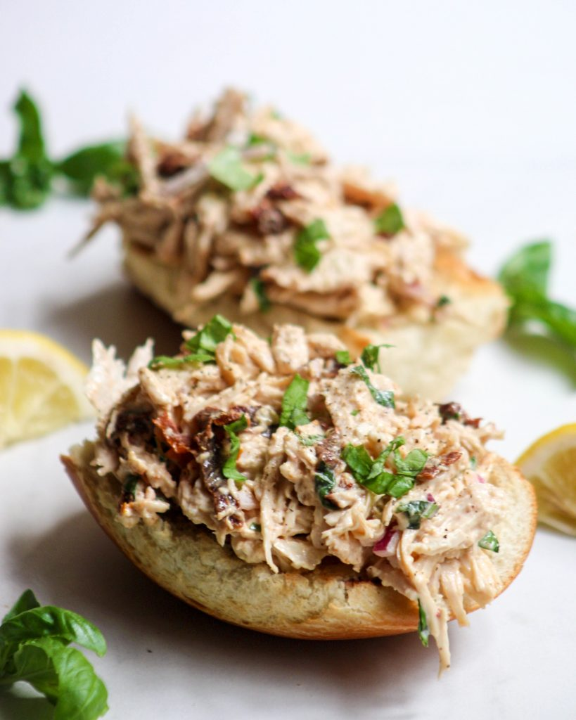 This slow-cooker shredded chicken salad is perfect for make-ahead lunches or a cool summer dinner - and you won't even break a sweat!