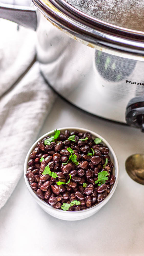 Black beans are simple to make in the slow cooker, and they're so much easier on your digestive system.