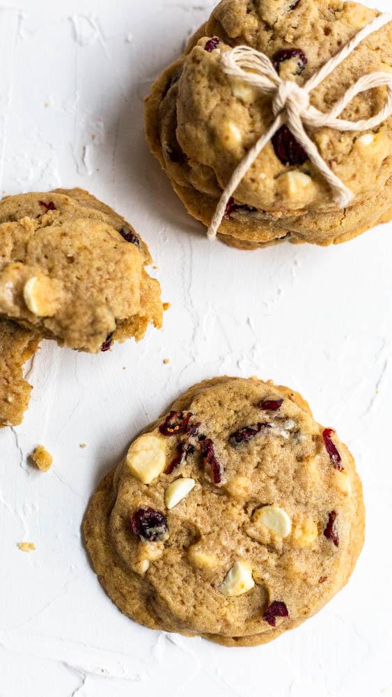 Gooey Cranberry White Chocolate Cookies