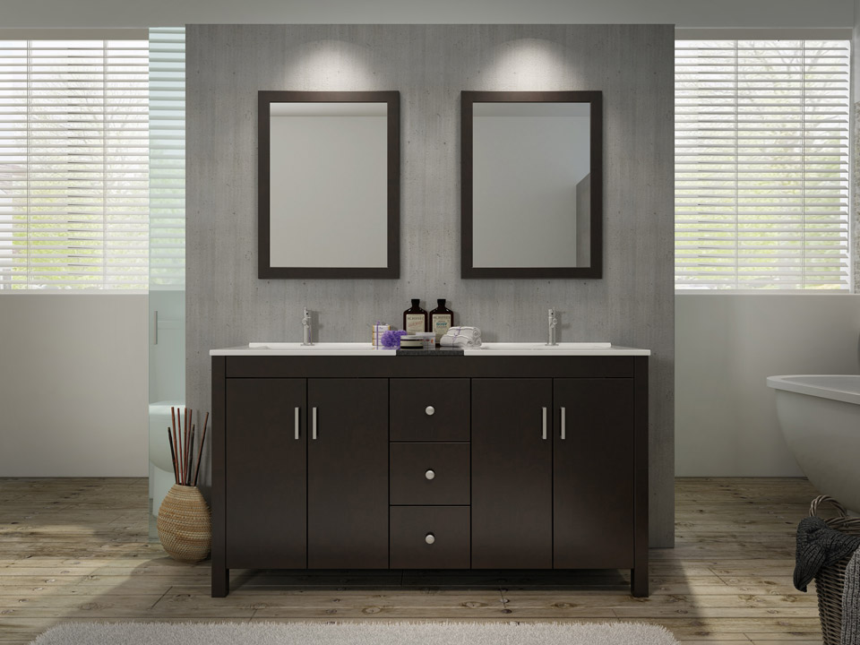 Ariel bathroom vanities rta cabinet store - Double bad design ...