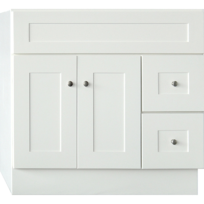 elegant white shaker - White Bathroom Cabinets And Vanities