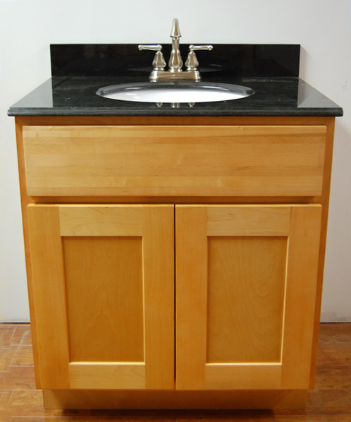 Maple Bathroom Vanity Cabinets natural shaker bathroom vanities - rta cabinet store